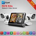 Nvs-k200 7 pulgadas hd de pantalla táctil capacitiva de la red y grabadoras de vídeo inalámbrica cctv kit de 4 canales dvr de la cámara ip wifi nvr