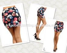 Floral Impression Mini Skirt