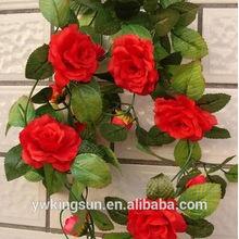 2 meter Artificial flower simulation cane vine ivy beautiful rose wedding decoration