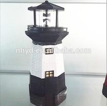 2014 new designed solar light Polyresin lighthouse with solar light Multi Amorphous solar panel