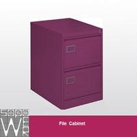 half size lowes smart mini 2-drawer purple file cabinet