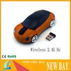 Wholesale -Orange Car USB 2.4G 1600dpi 3D Optical Wireless Mouse