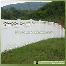6ftx8ft lattice top PVC privacy fence panel