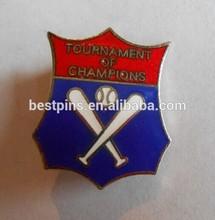 Great Vintage Enameled Tournament of Champions Baseball Award Pin Badge