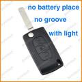 citroen c3 c4 coche flip remoto clave cubre con la luz de la batería no hay ningún titular de surco