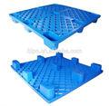 Palete de plástico com 4 entrada maneira 100% virgem material pead nova na cor azul