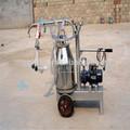 Único balde bomba de vácuo móvel máquina de ordenha de cabra / ovelha máquina de ordenha
