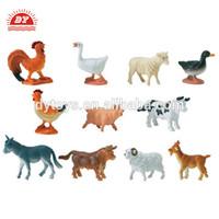 ICTI certificated make custom cheap plastic mini farm animals toys for kids
