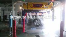 High pressure car washing