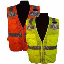 Wholesale Mesh Pocket Motorcycle Reflective clothing EN471 Safety Vest