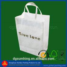 white customized kraft paper bag Eco-friendly shopping bag