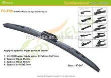 F08, suzuki sx4 accessories multi-adatper wiper blade for 5 difference wiper arms
