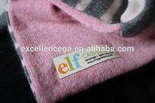 2014 de la buena calidad de la bufanda tejida etiquetas de venta al por mayor