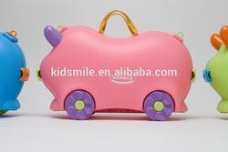 kids travel luggage colorful baby cartoon plastic luggage LXX16