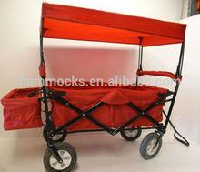 Folding Beach Cart with Caopy, Beach Trolly Cart with Canopy