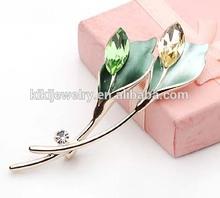 New Fashion Design Rhinestone Crystal Flower Elegant Scarf Clip Brooch Pin For Girls