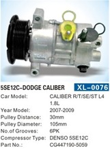 5SE12C refrigerant c compressor for Dodge Caliber GG447190-5059 auto/car air conditioner compressor