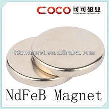 35H/38H/40H/42H/45H round disc neodymium monopole magnet with rohs
