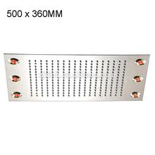 360 x 500 MM remoto de aço inoxidável Led cabeça de chuveiro, Luz cor mudou automaticamente, Não há necessidade de bateria, X15482