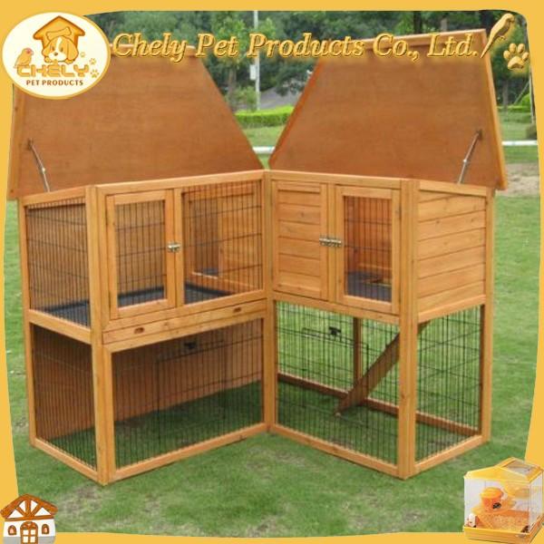 Hoek ontwerp konijn huis te koop houten konijnenhok met run huisdier kooien vervoerders en - Ontwerp eetkamer design ...