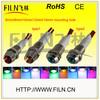 10mm 12 volt led indicator light chrome