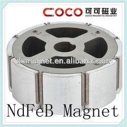 N35/N38/N40/N42/N45/N48/N50/N52 arc shape neodymium monopole magnet with screw hole for rare earth motor