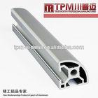 aluminum thin wall channel /rectangular aluminum profile anodized aluminum profile door frame