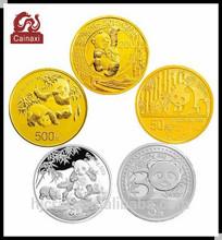 sell china panda old souvenir gold and silver coins