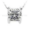 New classic imitation diamond 925 sterling silver necklace jewelry lady custume jewlery