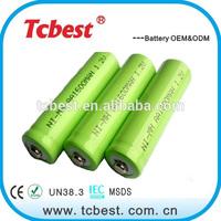 NI-MH C 1.2v AA 1600mah rechargeable battery