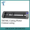 De alta calidad de pantalla táctil 740mm plotter de corte/plotter de corte de contorno de corte th740l