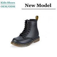 Wholesale top quality kids jungle leather winter boots kids winter rubber boots