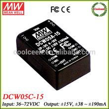 Meanwell DCW05B-15 36v to 15v -15v dc converter 5w