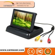Mini Car Monitor 2ch 4.3 inch TFT 12V car battery voltage monitor
