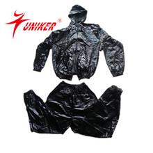2014 New 100% pvc fashionabel sauna sweat suit with cap
