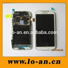 Mobile phone original LCD+TOUCH+Frame for Samsung I9500 -White