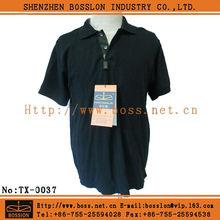 wholesale cheap men black t shirt polo