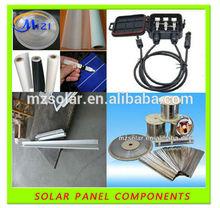 Solar panel accessories TPT(back sheet) EVA plastic sheetSoldering tips Sealant FLUX Junction Boxes Bussing Ribbon