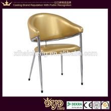 modern fashion gold leather dining chair DYD6130-2