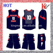 fashion design sublimated custom cheap basketball wear