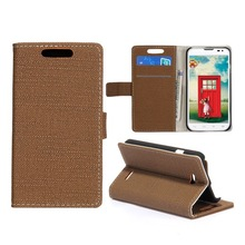 Factory price best selling unique colorful cloth texture wallet style folio stand leather flip cases for lg l70