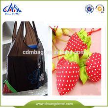 reusable folding fruit shape shopping bags