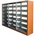 la biblioteca estantería de acero vertical de estantería de doble cara estante muebles