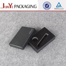 custom black wholesale velvet jewelry packaging box with foam insert