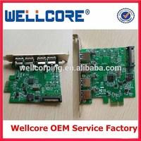 Laptop PCI-E PCI Express Controller Card 4 Port USB 3.0