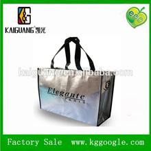 China manufacturer silver lamination tote bag non woven laser lamination bag nw-704