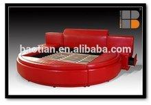 luxury designs modern leather round bed