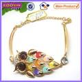 De cristal de joyería de la piedra preciosa pulsera del encanto con diamantes deimitación encanto #31399