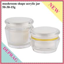 mushroom shape innovative cosmetics acrylic jar packaging