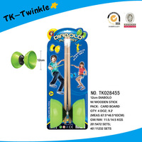 12cm kids sport game toy spinning top wooden pipe diabolo yoyo